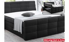 Boxspringbett Grande Bett Schlafzimmerbett in Hellbraun mit Topper 180x200