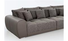 BIG-SOFA SAM POLSTERMÖBEL XXL-SOFA SOFA IN ELEFANT SCHLAMM 310