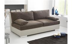 Schlafsofa DORSET Sofa Boxspring in greige braun 202 cm