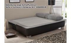 Schlafsofa Duett Funktionssofa Dauerschläfer in weiß und hellgrau mit Kaltschaumpolsterung