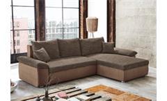 ecksofa br gge strukturstoff braun g stebett mit bettkasten. Black Bedroom Furniture Sets. Home Design Ideas