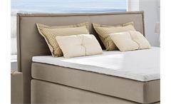Boxspringbett Ascoli Bett Schlafzimmerbett in beige mit Tandembezug 180x200