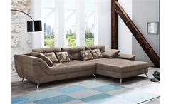 Wohnlandschaft SAN FRANCISCO Sofa Ecksofa in antikbraun