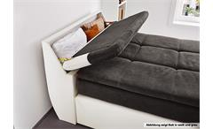 Boxspringbett Odessa Schlafzimmerbett Bett in schwarz grau inkl. Topper 120x200