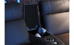 Cinema Sessel Hollywood 4er Kinosessel Kinosofa Sofa schwarz Getränkehalter
