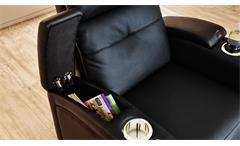 Cinema Sessel Houston 1 Kinosessel Heimkino in schwarz mit Getränkehalter