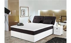 Boxspringbett VICKY Bett Schlafzimmerbett in grau weiß 180x200 cm