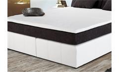 Boxspringbett Victorias Bett Schlafzimmerbett Polsterbett grau und weiß 180x200