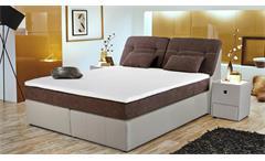 Boxspringbett VICKY Bett Schlafzimmerbett in braun greige 180x200 cm