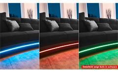 Wohnlandschaft Laredo Sofa Ecksofa in greige mit LED und Soundsystem