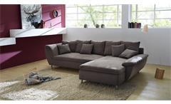 Wohnlandschaft Amarillo Ecksofa Sofa Polsterecke Polstermöbel in braun 295 cm