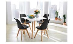 schaukelstuhl emilia in dunkelgrau und metall schwarz mit holzkufen. Black Bedroom Furniture Sets. Home Design Ideas