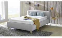 Boxspringbett Frieda 140x200 Bett grau Komfortbett Bonell-Federkern Schlafzimmer