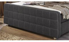 Boxspringbett Rave 180x200 Bett grau-braun inkl. Topper Doppelbett 2 Härtegrade
