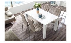 Stuhl Freiburg 4er-Set Esszimmerstuhl Küchenstuhl in greige mit Karosteppung
