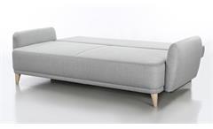 Funktionssofa Finn Schlafsofa in Stoff hellgrau 230 cm Sofa Gästesofa
