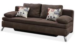 Schlafsofa Jamaika Sofa in dunkelbraun Funktionssofa
