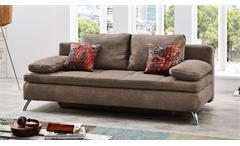 Schlafsofa Jamaika Sofa in hellbraun Funktionssofa