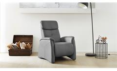 Fernsehsessel Irvine Sessel Relaxsessel Relax Chair in grau inkl. Nosagfederung