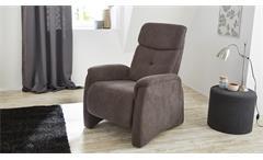 Fernsehsessel Irvine Sessel Relaxsessel in Stoff dunkelgrau inkl. Nosagfederung