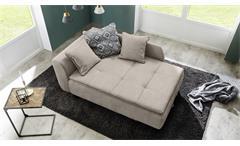 Recamiere ROMAN Schlafsofa Sofa in beige mit Tonnentaschenfederkern