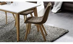 4er Set Stuhl Vita Vierfußstuhl antikbraun Eiche massiv Esszimmer Schalenstuhl