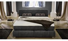 Boxspringbett REBECCA Schlafzimmer Bett Antikoptik grau mit Topper 180
