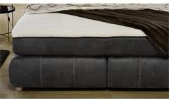 Boxspringbett Rebecca Schlafzimmer Bett Doppelbett Antik grau mit Topper 180