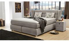 Boxspringbett Florentine Bett Polsterbett für Schlafzimmer in grau 180x200