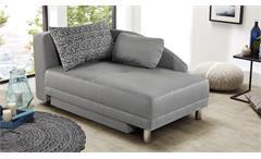 Recamiere ROY Sofa Liege schwarz weiß Schlaffunktion Bettkasten