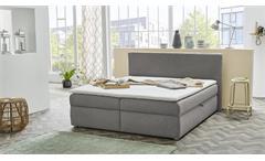 Polsterbett SVENJA Bett in grau mit Bettkasten 180x200