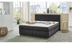 Polsterbett SVENJA Bett schwarz mit Bettkasten 180x200