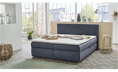 Polsterbett SVENJA Bett in blau mit Bettkasten 180x200