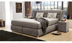Boxspringbett Florentine Bett Polsterbett für Schlafzimmer grau braun 180x200