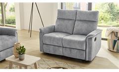 Sofa Amrum Sessel Relaxsessel 2-Sitzer mit Funktion Vintage grau 130