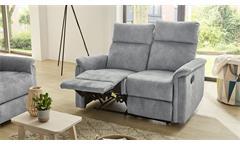 Sofa Amrum Sessel Relaxsessel Polstermöbel 2-Sitzer mit Funktion Vintage grau