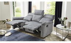 Sofa Amrum Sessel Relaxsessel Polstermöbel 3-Sitzer mit Funktion Vintage grau