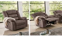 Fernsehsessel Cleveland Sessel Sofa Relaxsessel Polstermöbel mit Funktion braun