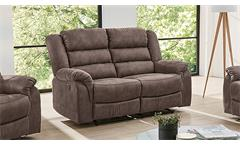 Sofa CLEVELAND Sessel Relaxsessel 2-Sitzer mit Funktion in braun 167