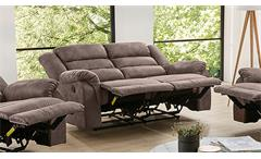 Sofa Cleveland Sessel Relaxsessel 2-Sitzer Polstermöbel mit Funktion braun 167