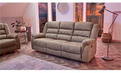Sofa CLEVELAND Sessel Relaxsessel 3-Sitzer Funktion Vintage grau braun