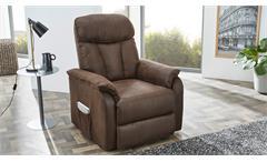 Fernsehsessel Dorsten Sessel Sofa Polstermöbel mit Funktion in Antik braun