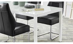 Tischgruppe Nicky Timbas Esszimmer Schwingstuhl Esstisch in schwarz und weiß