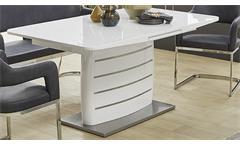 Tischgruppe Bernd Beate Tokio Esszimmer Bank Stuhl Tisch in weiß Hochglanz grau