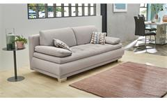 Schlafsofa Pepe Funktionssofa Sofa Couch in Stoff beige inkl. Bettkasten Kissen