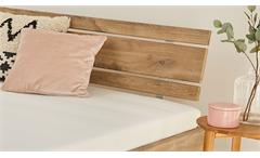 Futonbett Rhone Bett Plankeneiche mit Rollrost und Matratze 140x200