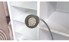 Tischlampe grau Büro Schreibtischleuchte LED mit Schwanenhals flexibel