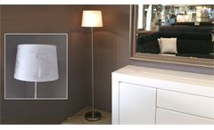 Stehlampe Nickel matt Lampenschirm Acryl weiß mit Muster