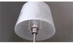 Stehlampe Stehleuchte Nickel matt Lampenschirm Acryl weiß mit Muster