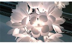Tischlampe Blüte Dekoration Tischleuchte Nachttischlampe Acryl Frostoptik Blättter